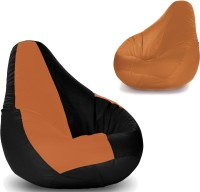 Story @ Home XXL Bean Bag Without Filling Bean Bag  Cover (Without Filling) (Brown, Black, Brown)