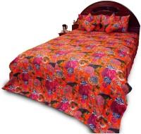 Manka Creation Cotton Double Bed Cover Orange - BCVEBNZXTBYSNGZB