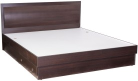 Durian Rose Engineered Wood Queen Bed With Storage