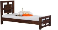 Smart Choice Furniture Smart Choice Rosewood (Sheesham) JIBD01 Matte Finish Solid Wood Single Bed Solid Wood Single Bed (Finish Color -  Walnut)