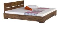 Smart Choice Furniture Smart Choice Rosewood (Sheesham) JIBD06 Matte Finish Solid Wood Queen Size Bed Solid Wood Queen Bed (Finish Color -  Rich Stone (Natural Matte))