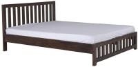 Smart Choice Furniture Smart Choice Rosewood (Sheesham) JIBD08 Matte Finish Solid Wood King Size Bed Solid Wood King Bed (Finish Color -  Walnut)