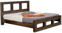 Smart Choice Furniture Smart Choice Rosewood (Sheesham) JIBD09 Matte Finish Solid Wood Queen Size Bed Solid Wood Queen Bed (Finish Color -  Walnut)