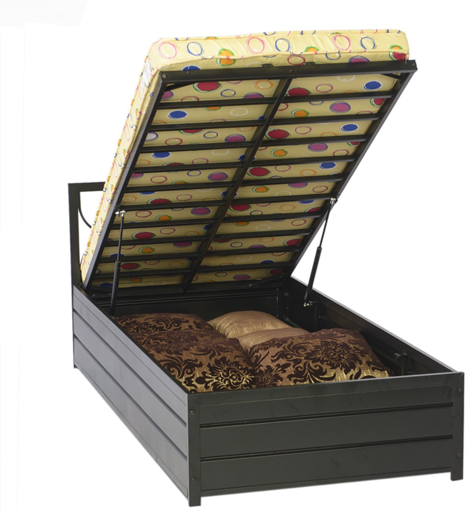 Wrought iron single bed - Irony Furniture Metal Single Bed With Storage