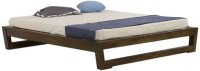 Smart Choice Furniture Smart Choice Rosewood (Sheesham) JIBD03 Matte Finish Solid Wood King Size Bed Solid Wood King Bed (Finish Color -  Walnut)