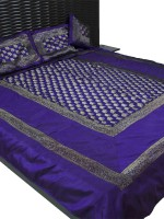 Ratash Cotton Silk Blend Bedding Set Blue