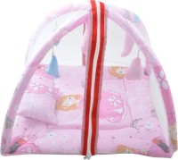 Royal Shri Om Baby Bedding Set With Mosquito Net (Pink)