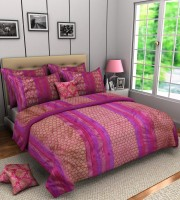 A'la Mode Creations Cotton Silk Blend Bedding Set Pink