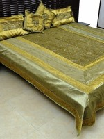 Ratash Cotton Silk Blend Bedding Set Green - BEDEBGFXJMET8FYJ