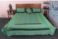 Jaipur Textile Hub Cotton Silk Blend Bedding Set Green