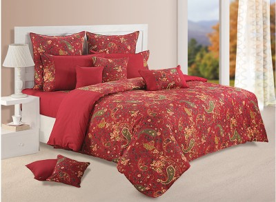 Swayam Shades of Paradise Bedding Set Maroon