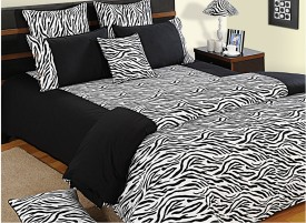 Swayam Shades of Paradise Cotton Bedding Set