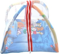 Royal Shri Om Baby Bedding Set With Mosquito Net&Playgym Mosquito Net (Blue)