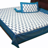 Pioneerpragati Cotton Bedding Set Sky Blue And Sea Green And Blue