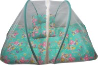 Muren Polycotton Bedding Set (Baby Bedding Set With Mosquito Net - Rabit-Green)