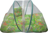 Muren Polycotton Bedding Set (Baby Bedding Set With Mosquito Net - Bear-Green)
