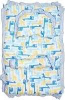 Wonderkids Giraffe Print Cotton Bedding Set (Blue)