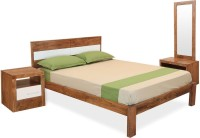 @home By Nilkamal Solid Wood Bed + Side Table + Dressing Table (Finish Color - NA)