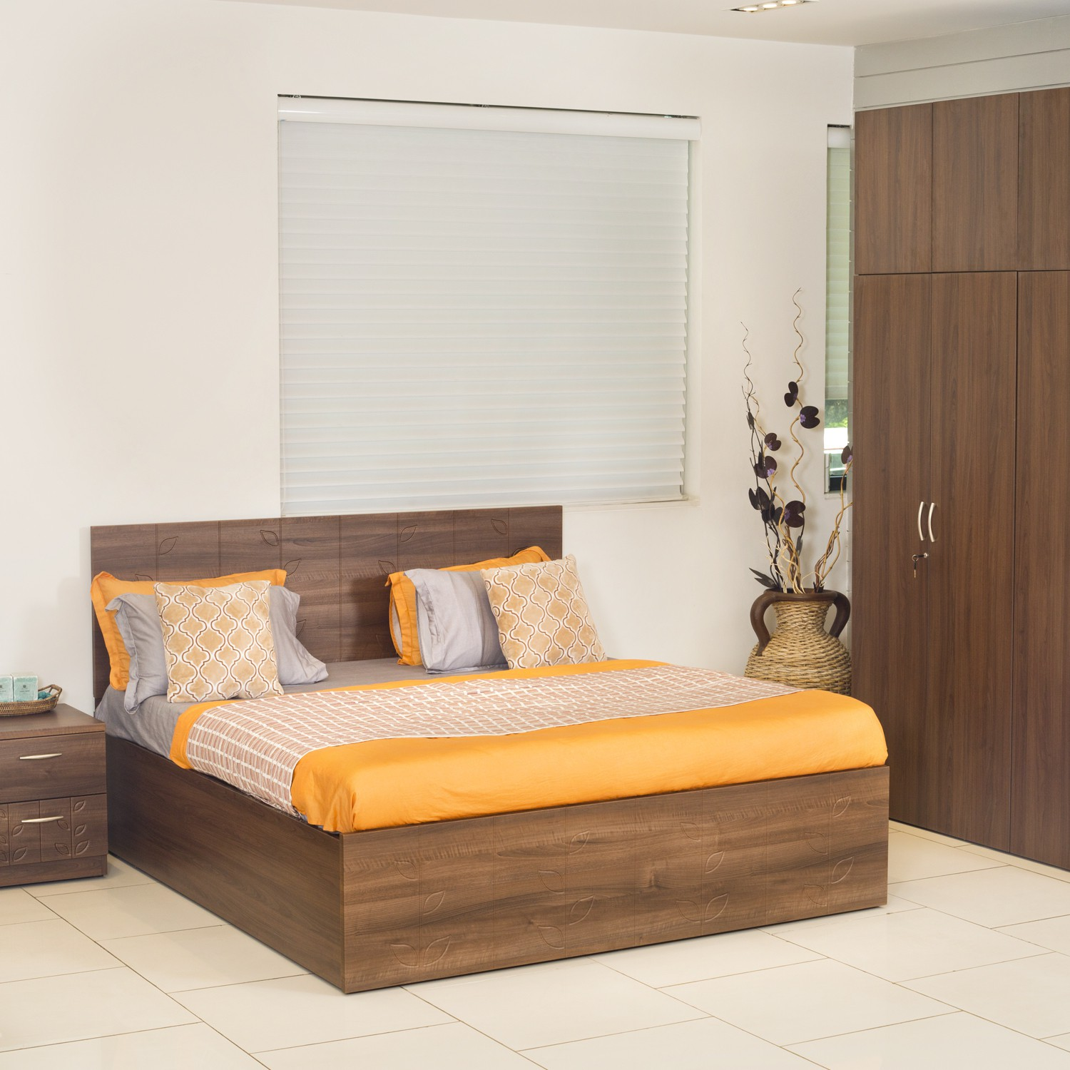 Godrej interio engineered wood bed side table wardrobe price in india december 2017 Godrej interio home furniture price list
