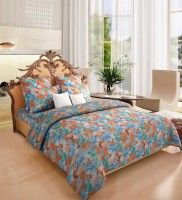 Home Candy Cotton Floral Double Bedsheet (1 Bedsheet, 2 Pillow Covers)