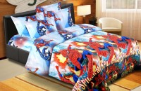 Home Originals Polycotton Cartoon Double Bedsheet 1 Double Bedsheet, 2 Pillow Covers, Multicolor