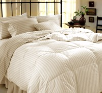 Dreamscape Cotton Striped Double Bedsheet (Bedsheet, Two Pillow Covers)