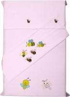 Baby Rap Cotton Embroidered Standard Crib Bedsheet (2 Bed Sheets, 2 Pillow Covers, Pink) - BDSE59YQDTQ3D3HW