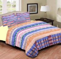 Home Originals Polycotton Abstract Double Bedsheet 1 Double Bedsheet, 2 Pillow Covers, Multicolor