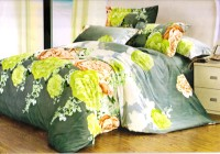 Ruhi Home Furnishing Polyester Floral Double Bedsheet 1 Double Bedsheet, 2 Pillow Covers, Multicolor