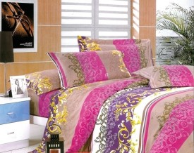 Fabhomes Polycotton Floral Double Bedsheet