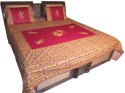 Shilimukh Embroidered Ethnic Flat Double Bedsheet - BDSDU4Y7YSM429NF