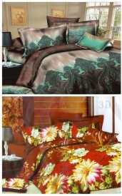 Fabhomes Polycotton Double Bedsheet