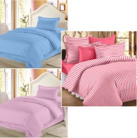 Story @ Home Cotton Printed Single Bedsheet Set Of 3 Double Bedsheet With 3 Pillow Cover, Multicolor - BDSE8F78DMTHZAGW