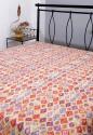 Rajrang Ikat Ikat Print With Kantha Work Flat Double Bedsheet - BDSDTGNHFBNZPAQ7