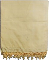 Anita Trade Cotton Silk Blend Plain Single Bedsheet 1 Bedsheet, Yellow