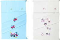Baby Rap Cotton Embroidered Standard Crib Bedsheet (4 Bed Sheets, 4 Pillow Covers, Multicolor) - BDSE6G7WPPWFNBA4