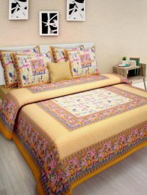 SONAL TEXTILES Cotton Printed Double Bedsheet