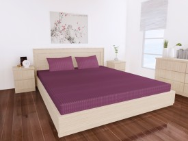 Dreams Cotton Plain King sized Double Bedsheet