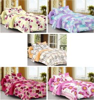 Story @ Home Cotton Printed Single Bedsheet Set Of 5 Single Bedsheet With 5 Pillow Cover, Multicolour