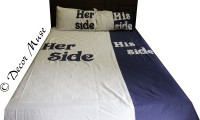 Decor Muse Cotton Embroidered King Sized Double Bedsheet 1 Bedsheet, 2 Pillowcover, White, Blue