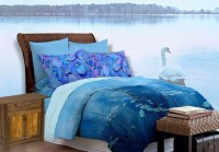 Bombay Dyeing Cotton Printed Double Bedsheet (1 Bedsheet, 2 Pillow Covers, Blue)