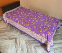 JR Print Cotton Floral Single Bedsheet 1Bedsheet, Multicolor