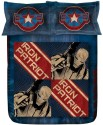Stoa Paris Blue Iron Man 300TC Bedlinens Printed Flat Single Bedsheet
