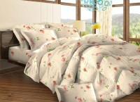 Bombay Dyeing Cotton Floral Double Bedsheet (2 Pillow Covers, 1 Double Bedsheet)