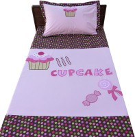 Aiva Little Pipal Cupcake Kids Flat Single Bedsheet