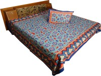 Jaipur Art And Craft Cotton Printed Double Bedsheet 1 Bedsheet, 2 Pillow Covers, Multicolor