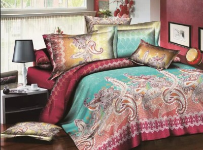 YNA Polycotton Paisley Double Bedsheet