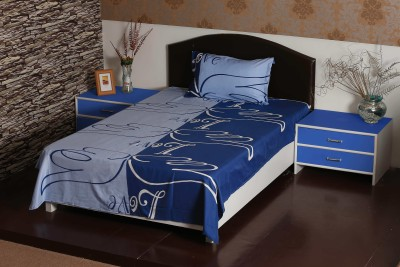 Aalidhra Polyester Silk Blend Abstract Single Bedsheet