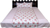 Nathi And Nancy Cotton Floral Double Bedsheet 1 Bed Sheet & 2 Pillow Covers, Multicolor - BDSEK7HUKDYFYDY2