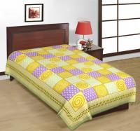 Fab Rajasthan Unique Arts Cotton Printed Single Bedsheet 1 Bedsheet, Multicolor - BDSE7UYQ3GHGWEF9